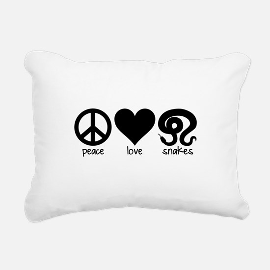 Peace Love And Snakes Rectangular Canvas Pillow