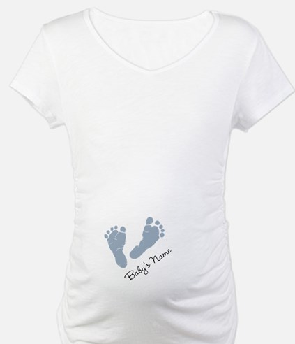 Baby Blue Footprints Shirt
