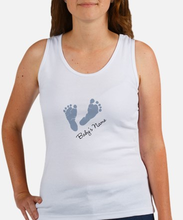 Baby Blue Footprints Tank Top