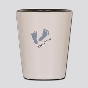 Baby Blue Footprints Shot Glass