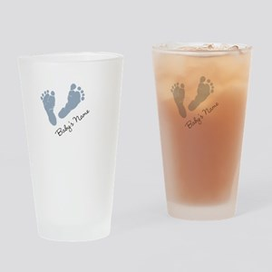 Baby Blue Footprints Drinking Glass