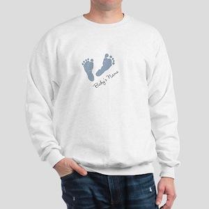Baby Blue Footprints Sweatshirt