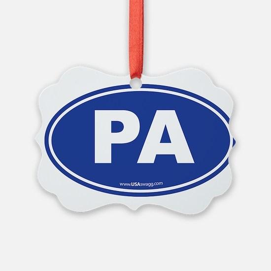 Pennsylvania PA Euro Oval Ornament