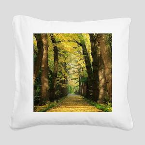 Ginkgo biloba trees Square Canvas Pillow