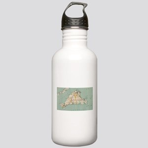 Vintage Map of Martha' Stainless Water Bottle 1.0L