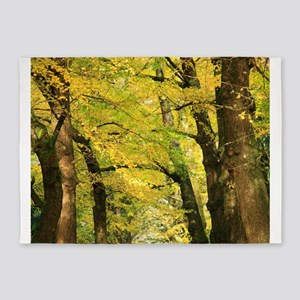 Ginkgo biloba trees 5'x7'Area Rug
