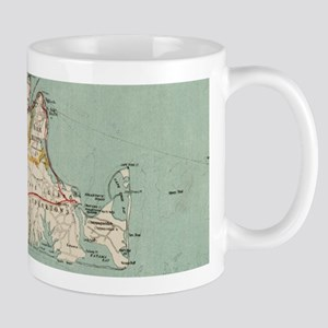 Vintage Map of Martha's Vineyard (1917) Mugs
