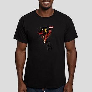 Spider-Woman Hanging U Men's Fitted T-Shirt (dark)