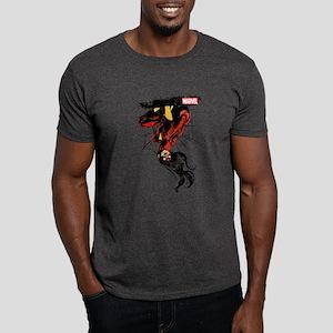 Spider-Woman Hanging Upside Down Dark T-Shirt