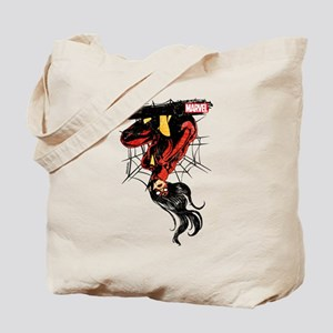 Spider-Woman Hanging Upside Down Tote Bag