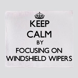 Keep Calm by focusing on Windshield Throw Blanket