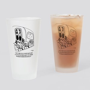 Flying Cartoon 7547 Drinking Glass