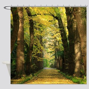 Ginkgo biloba trees Shower Curtain