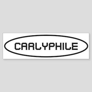 Carlyfile Black on White Bumper Sticker