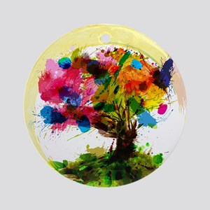 Watercolor Tree of Life Ornament (Round)