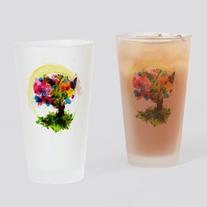 Watercolor Tree of Life Drinking Glass