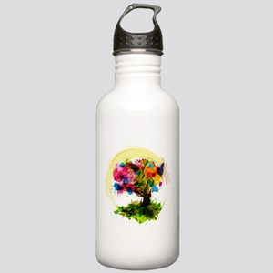 Watercolor Tree of Life Water Bottle