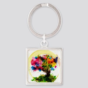 Watercolor Tree of Life Keychains