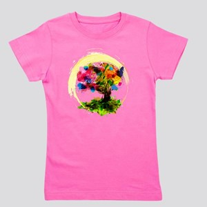 Watercolor Tree of Life Girl's Tee
