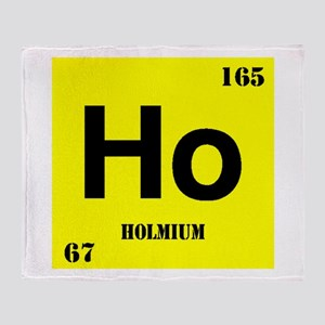 Holmium Throw Blanket
