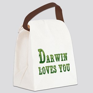 Darwin Loves You Canvas Lunch Bag