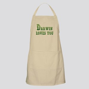 Darwin Loves You Apron