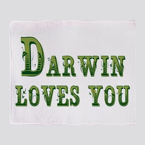 Darwin Loves You Throw Blanket