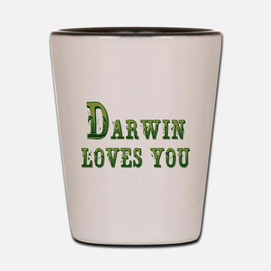 Darwin Loves You Shot Glass