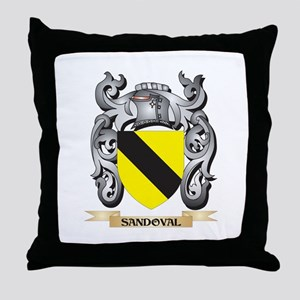 Sandoval Coat of Arms - Family Crest Throw Pillow