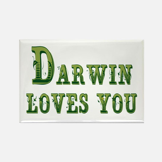 Darwin Loves You Magnets