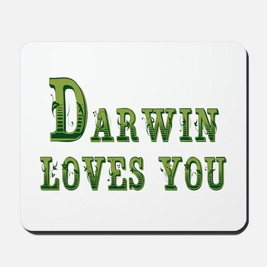 Darwin Loves You Mousepad