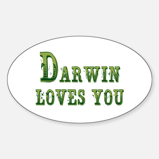 Darwin Loves You Decal