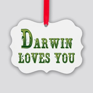 Darwin Loves You Ornament