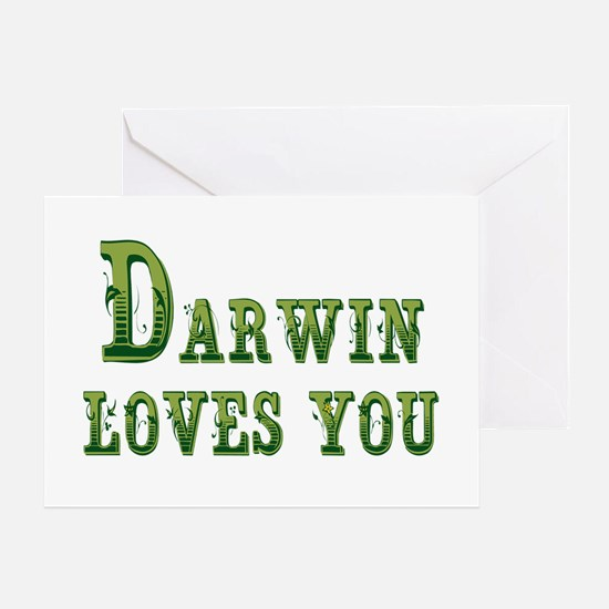 Darwin Loves You Greeting Cards