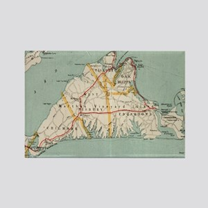 Vintage Map of Martha's Vineyard (1917) Magnets