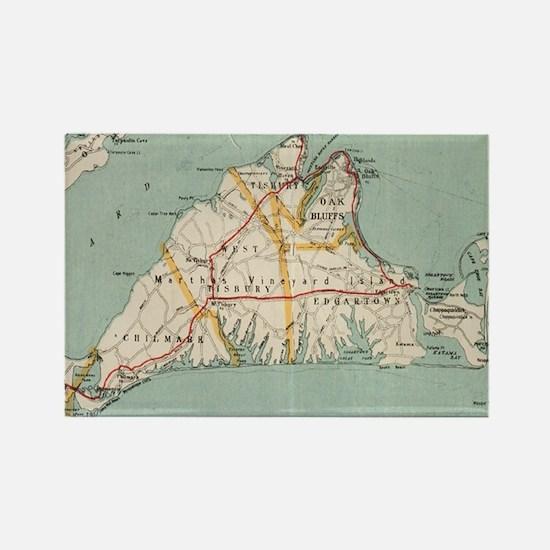 Vintage Map of Martha's Vineyard (1917) Magnets