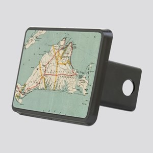 Vintage Map of Martha's Vi Rectangular Hitch Cover