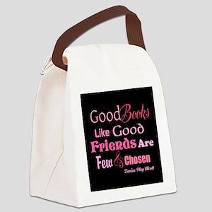 Books & Friends Canvas Lunch Bag