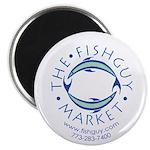 Fishguy Market Round Magnet