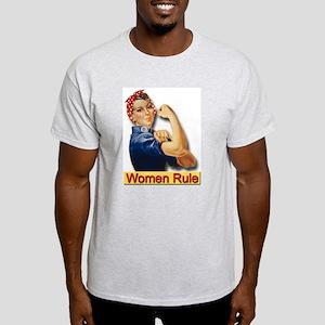 Women Rule Ash Grey T-Shirt