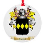 Grandis Round Ornament