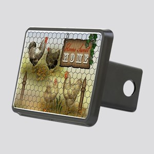Home Sweet Home Chickens a Rectangular Hitch Cover
