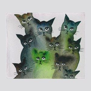 Strasbourg Stray Cats Throw Blanket