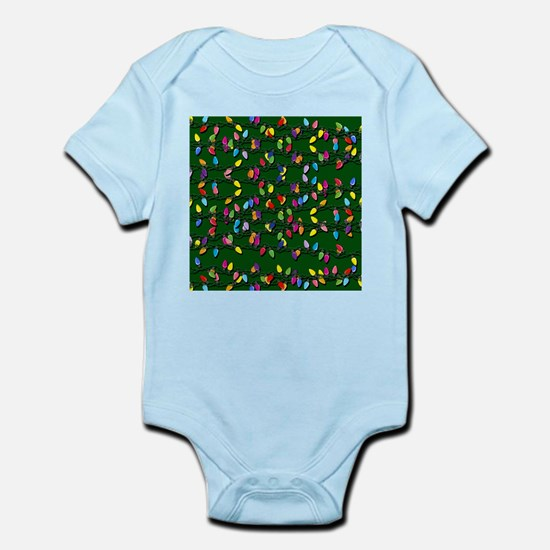 Holiday Lights on Green! Infant Bodysuit