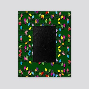Holiday Lights on Green! Picture Frame