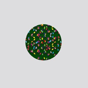 Holiday Lights on Green! Mini Button