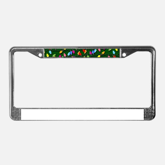 Holiday Lights on Green! License Plate Frame