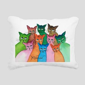 Cayo Stray Cats Rectangular Canvas Pillow