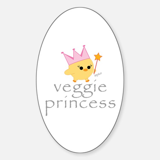 Veggie Princess Oval Decal