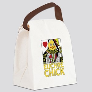 Euchre Chick Canvas Lunch Bag